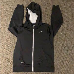 Boys Nike therma-fit hoodie black large